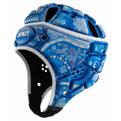 Indigenous design Rugby Headguard (Blue)