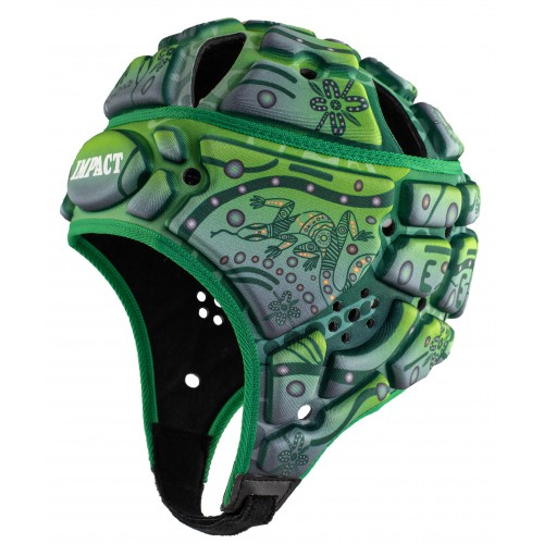 Indigenous design Rugby Headguard (Green)
