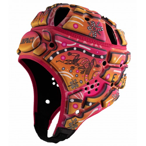 Indigenous design Rugby Headguard (Pink)