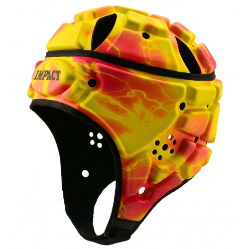 Strobe Headguard (Hot Pink/Yellow) (IRB/World Rugby Approved)